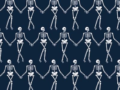 Danse Macabre art identity design pattern design branding illustration