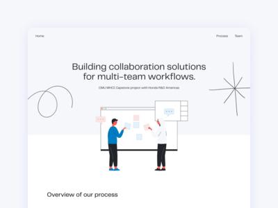 Landing page design & illustration