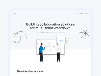 Landing page design & illustration flat vector ui design web illustration