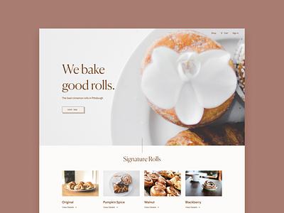 Bun bun bake shop web design product minimal design typography ux web