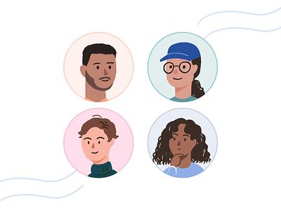 Profile ux design illustration