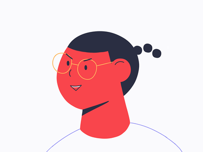 User profile minimal ux design illustration