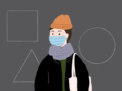 Going outside illustrator procreate design profile illustration