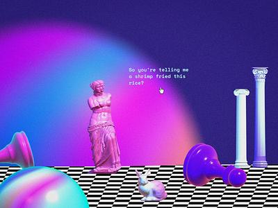 Fun with 3d spline design cyberpunk vaporwave 3d art 3d
