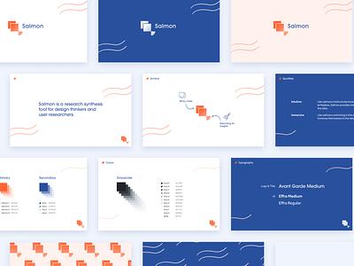 Salmon Logo & Style Guide ux graphic design design system styleguide ui minimal vector logo illustration branding design