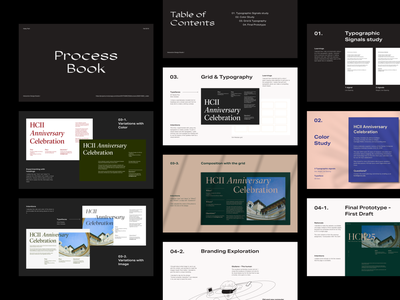 """Process Book"" deck design editorial design presentation design branding grid typography design"