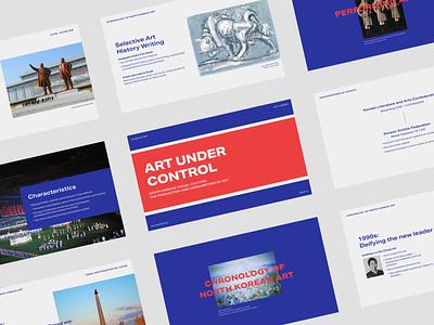 Class slides - Art under control presentation design slide design slide deck graphic design typography design