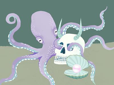 Octopus graphic design design illustration