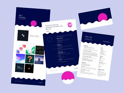 Personal Branding - 2018 resume web design product design design ux branding