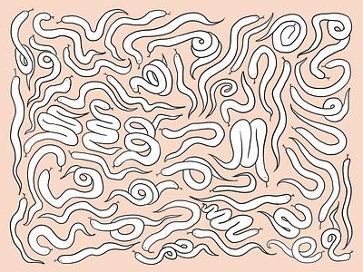Snake art illustration