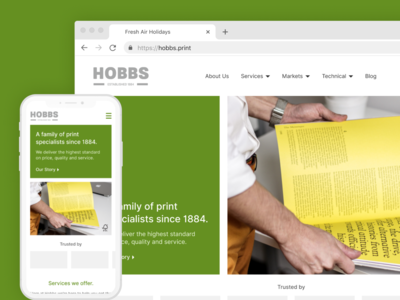 Hobbs - Website Concept