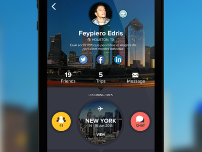 Travel App Mockup