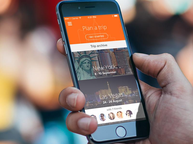 Travel App Ios Trip Planner By Kieran Mcmillan Dribbble Dribbble