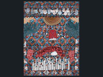 Persian Carpet  fun pattern design illustration debut