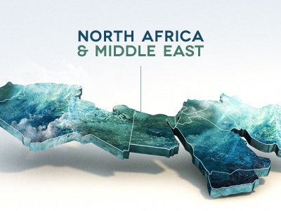 3D MAP AFRICA MIDDLE EAST by Michael Barton Dribbble