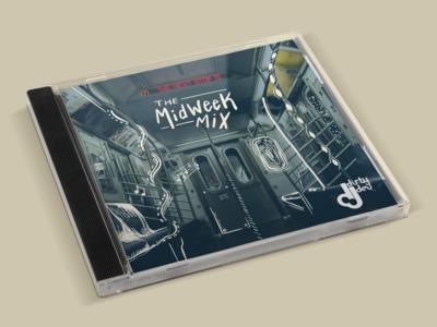 MidWeekMix Cover Art chicago. dj music design illustration cover art