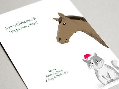 Christmas Card 2018 (back) typography christmas christmas card photoshop illustration design