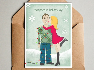 2018 Annual Christmas Card christmas cards christmas lights snow snowflakes holidays christmas christmas card typography photoshop illustration design