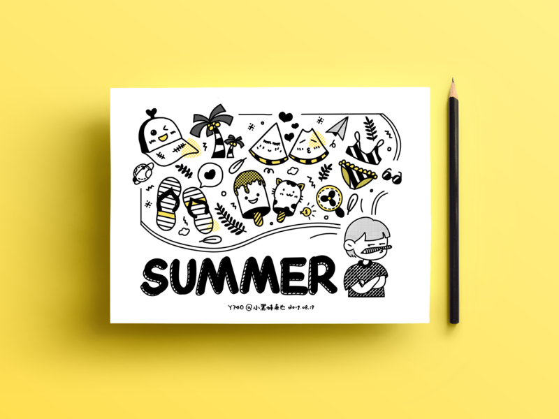 My memories about summer (Day5) doodle illustration