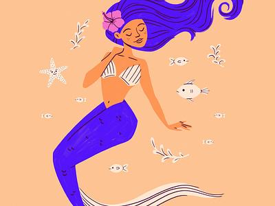 Olivia hawaii fish crop sketch drawing design illustration