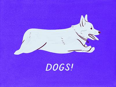 Corgi loaf corgi dog drawing sketch design illustration