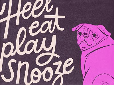 Sneak pt. 3 pug dog type typography sketch drawing design illustration