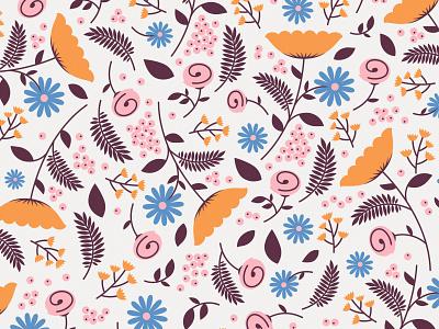 old flower pattern flowers pattern design illustration