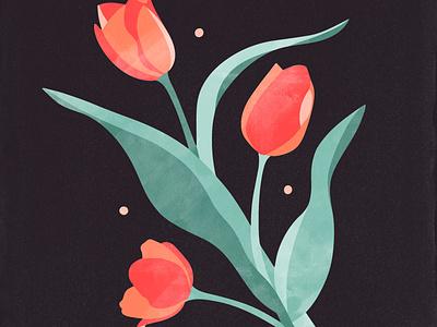 momma's day flowers flower tulips illustration