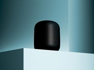 Apple Homepod practice redshift3d cinema4d homepod apple product rendering