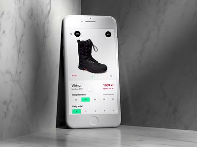 Cart button Interaction ecommerce uiux uidesign protopie prototype design app animation booztlet