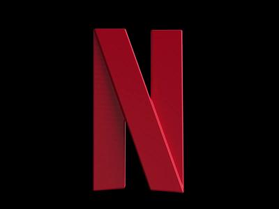 3D Icon - Netflix redshift illustration branding logo ui cinema 4d redshift3d after effects motion graphics animation