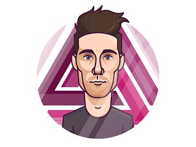 Dan Smith - Bastille ilustration vector portrait england band singer music dan smith bastille