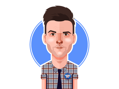Ben Wyatt ben wyatt adam scott portrait parks and rec parks and recreation nbc vector illustration minimal