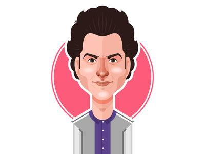 Jean-Ralphio Saperstein ben schwartz jean ralphio portrait parks and rec parks and recreation nbc vector illustration minimal