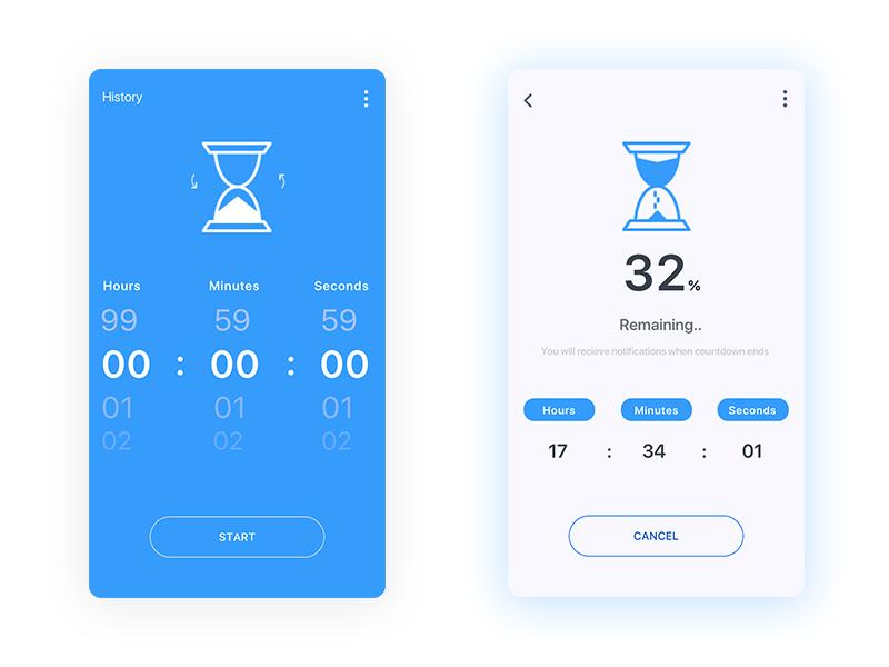 Daily ui - #014 Countdown Timer bluish ux design ux daily ui 014 visual design interface timer countdown timer ui design