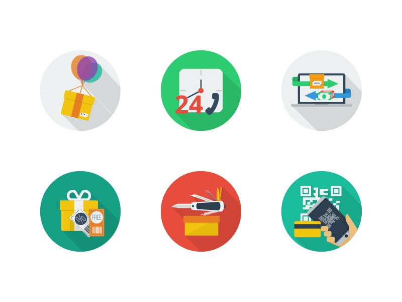 E commerce flat icons  free in dribbble