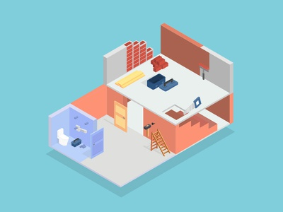 Isometric Repair collection infographic flat concept business icon 3d set design vector isometric illustration