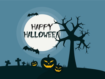 Happy Halloween cemetery image illustration vector horror holiday night icon banner poster background halloween