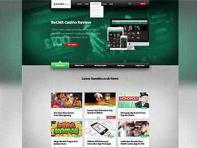 Gamble.co.uk Re-design css3 html5 page landing website design betting casino web gambling