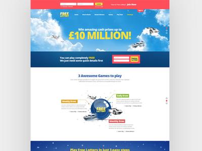 Free Lottery landing page