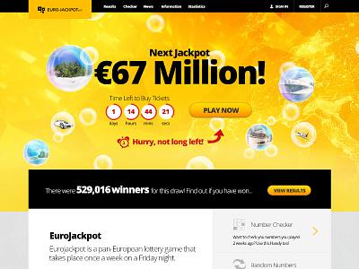 Lottery Landing Page landing web lottery