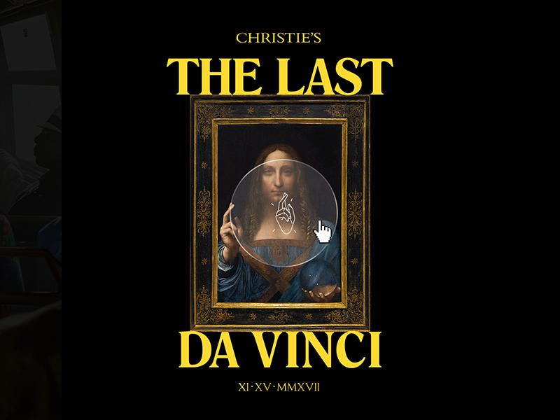 The Last Da Vinci ui webdesign product design website artdirection website design web design illustration typography design