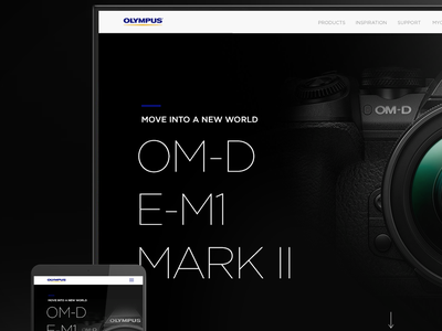 Olympus New Website Proposal design