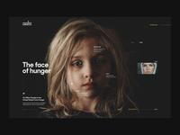 I am hunger in America webdesign artdirection website web design website design typography design