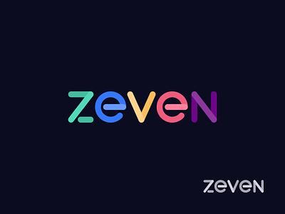 Zeven (Seven) number 7 logodesign branding mark logo technology logo iformation technology logo zeven seven