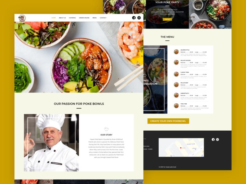pokémon hawaii restaurant website design userinterface user experience restaurant menu design menu card hawaii food hawaii food and drink