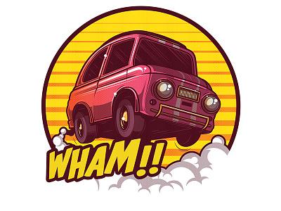 WHAM!! illustration vector artwork car comic