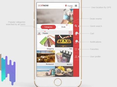 Home Screen - Online search + shopping app