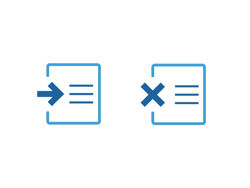 File Icons blue flat export delete file paper minimal