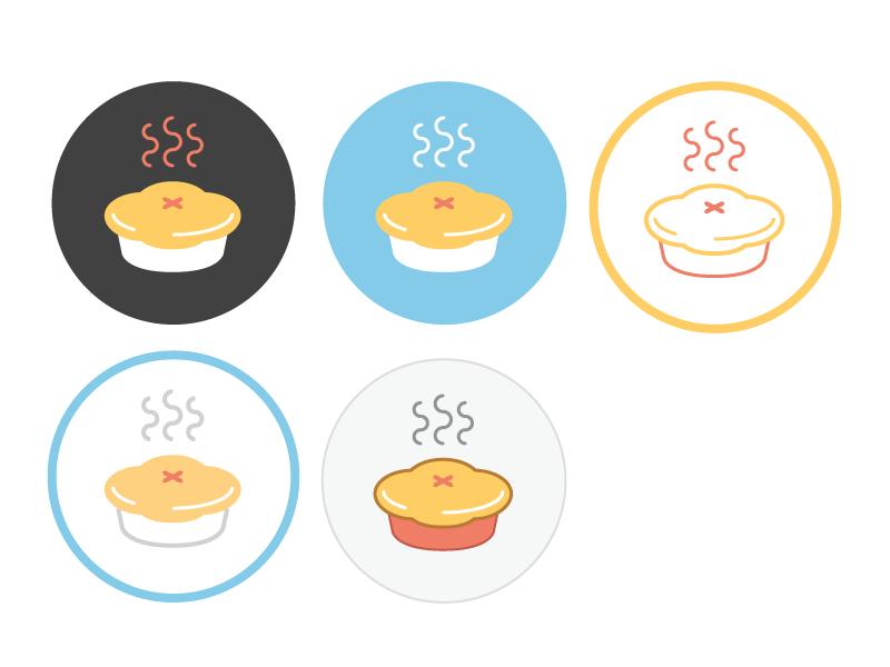 Pie assortment icons iconography pie cute illustration